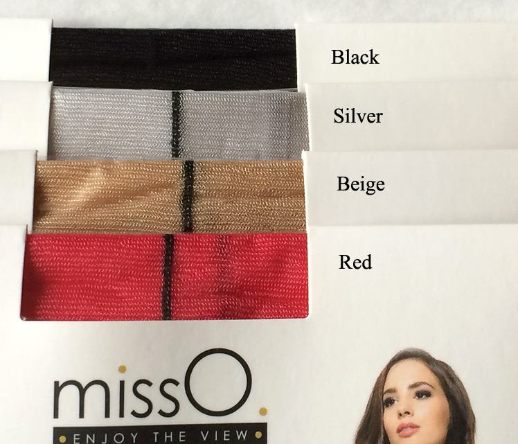 MissO seamed crotchless pantyhose colors