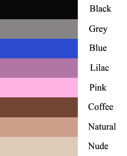 glossy crotchless pantyhose color swatch